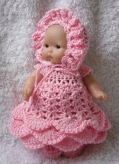 Crochet pattern for Berenguer 5 inch baby doll
