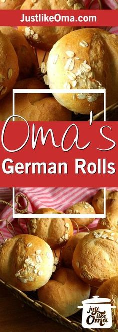 German Bread Rolls aka Brötchen are the BEST thing next to sliced bread! ❤️ Check out https://www.quick-german-recipes.com/bread-rolls-recipe.html