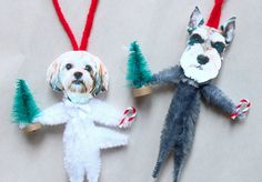 DIY dog ornaments