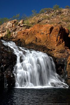 Edith Falls in Australia's northern territory: http://www.findingtheuniverse.com/2012/10/travelpinspiration-waterfalls.html