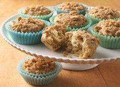 Mmmm….moist homemade muffins with a streusel topping! Need we say more? 15 muffins