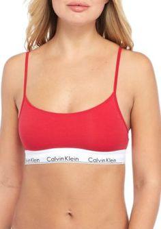 f95cab340627c Calvin Klein Women s Modern Cotton Skinny Strap Bralette - Empower - Xl  Calvin Klein Women