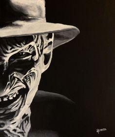 Freddy Krueger  Nightmare on Elm Street  Art by QuietRoomBears, $20.00