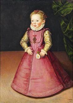 1577 Jan Cornelisz Vermeyen (c.1500-1559) Archduchess Maria Erna Christ (1574-1621) at the age of three years
