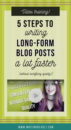 Wanna learn how to write a blog post fast? Discover the 5-step blog post writing process I use to write lots of long-form content WITHOUT sacrificing quality! :) | blogging tips | blogger | entrepreneur tips | writing tips | freelance writing tips |