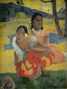 Paul Gauguin - NAFEA faaipoipo (When Will You Marry?), 1892 (Kunstmuseum Basel Switzerland) at Gauguin-to-Picasso Exhibit - Philllips Collection Washington DC (Exhibit Catalog Book)