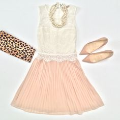 Forever 21 pleated lace dress, leopard and Louboutin