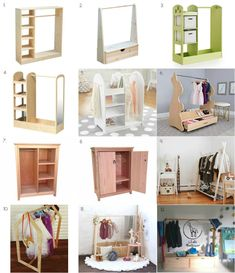 I& featured some amazing Montessori wardrobes before, but what if you are not able to DIY, don& have an Ikea nearby or just want to order something ready made? Here are some really lovely ready mad Montessori Toddler Rooms, Montessori Bedroom, Ikea Montessori, Diy Wardrobe, Kid Closet, Kids Bedroom, Room Kids, Room Inspiration, Decoration