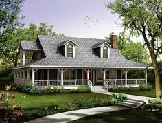 Find your dream farm style house plan such as Plan which is a 1673 sq ft, 3 bed, 2 bath home with 0 garage stalls from Monster House Plans. Little House Plans, Family House Plans, Country Style House Plans, House Floor Plans, Farmhouse Plans, Farmhouse Design, Country Farmhouse, Country Homes, Low Country