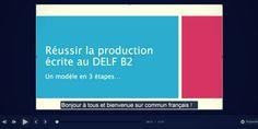 Comment réussir votre production écrite du DELF B2 : vidéo + article + bonus à télécharger ! http://communfrancais.com/2017/01/09/sujet-de-production-ecrite-delf-b2/