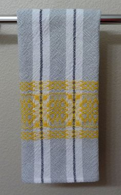 Handwoven Cotton Towel for Kitchen or Bath by eweniquelyewe