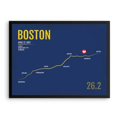 Boston Marathon Print, Free Personalization, Unique Runner Gift, Runners Gifts for Men, Runners Gift Ideas, Boston Poster, Runner\'s Gift Ideas, Boston Marathon Map, Boston Marathon Gear, Boston Marathon Products, Marathon Monday