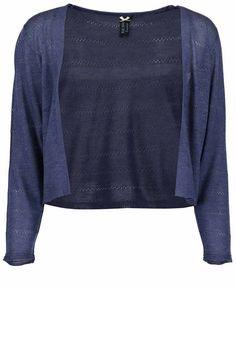 Blue Seven Strickjacke »mit Ajour-Strickmuster« für 24,99€. Bolero mit langen Ärmeln, Hochwertige Ajour-Strickstuktur bei OTTO