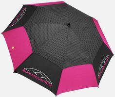 Sun Mountain Golf Manual UV Umbrella - Black/Pink