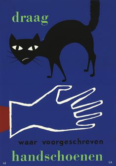 """""""Wear gloves where prescribed."""" 1959 Hoogspanning!: More Dutch Safety Posters - 50 Watts"""