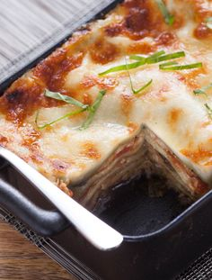 Eggplant Lasagna with Bechamel Sauce & Fresh Spinach Noodles from @blueapron