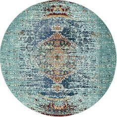 Turquoise Arte Area Rug