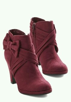 Cool red ankle boots