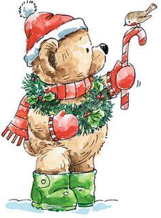 CHRISTMAS TEDDY BEAR CLIP ART … | Pinteres…