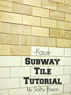 faux subway tile tutorial @Sophia Hopkins Provost  30daysblog