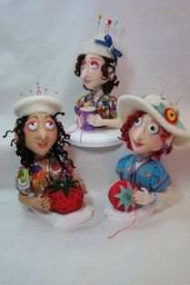 The Pincushion Girls from Fanciful Cloth Dolls