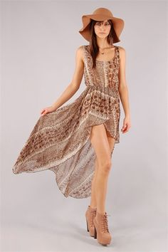 Paola Maxi Dress - Brown. Necessary Clothing $35.99