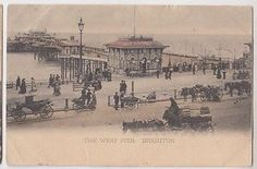 The West Pier, Brighton Sussex Postcard 1904 in Collectables, Postcards, Topographical: British | eBay!