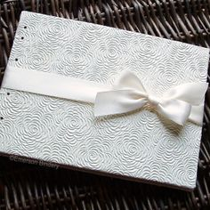 """Wedding Guest Book Vanilla Tea Roses in Ivory by EmersonBindery, $35.00 $55 for 7""""x9"""""""