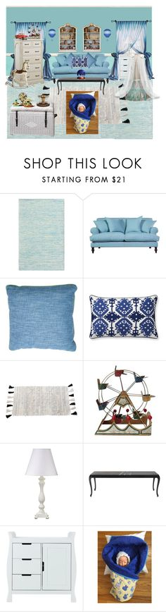 """""""Vintage Fabric, Hand Quilted Baby Quilt, Handmade Baby Quilt, Teddy Bears, Giraffes, Ducks, Sheep & Rabbits, New Baby, 36.5"""" x 42.5"""" Nursery"""" by bamasbabes on Polyvore featuring Wallace, Williams-Sonoma, Pom Pom at Home, Shabby Chic, CO, Bebe and vintage"""