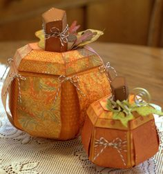 This is a gorgeous centerpiece made by Cheryl!  Love the colors and embellishing.  From our PICK A PUMPKIN SVG KIT.