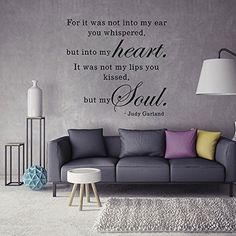 ChezMax Removable Home Decor PVC DIY Decorative Whispers of Love Wall Sticker English Quote for Living Room 228 x 236 ** Continue to the product at the image link.