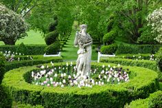 Caroline Roehm formal garden in CT