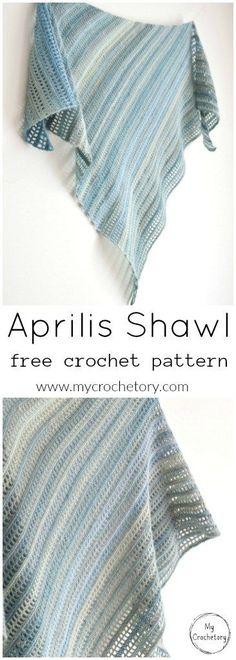 Aprilis Shawl - free crochet pattern at My Crochetory