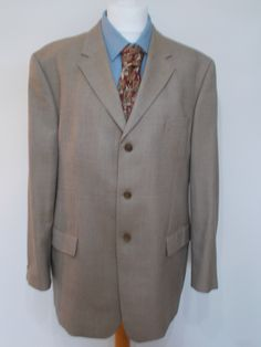 Vintage mens sports jacket blazer - Wool silk mix jacket - Privernum Italy…