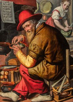 Le compteur de grains d'orge (The Barleycorn Counter) by Pieter Pietersz 16th Century Fashion, 17th Century, Carpentry And Joinery, Mystical World, Foot Warmers, Renaissance Art, Working Woman, Art For Sale, Working Class
