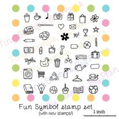 Planner stamps - Fun symbols