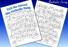 Tell Me About The Catholic Faith- Check Off Page