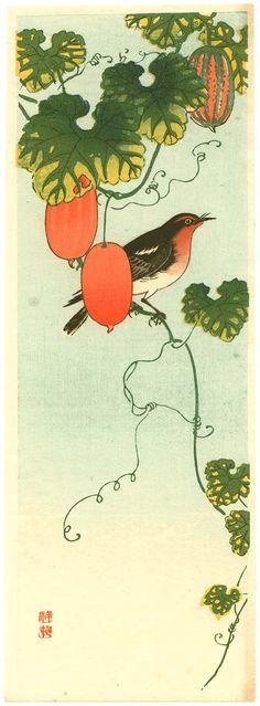 ca. 1930 - Shōson, Ohara - Ohara Koson: Bird and Orange Fruit Vine