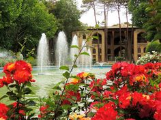 Spring colors by Isfahan palace fountain | Flickr - Photo Sharing!