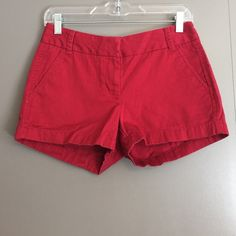"""J.Crew deep red chino shorts J.Crew classic chino shorts in a deep red color. 100% cotton. I have these in other colors and love them! Inseam: 3"""" J. Crew Shorts"""