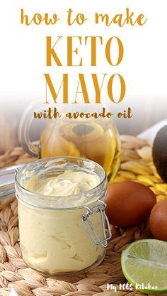 Making keto mayonaise is so easy, it will only take 2 minutes of your time to make this avocado oil mayonnaise recipe! Use an immersion blender to make the most creamy and easy mayo recipe. #mayo #mayonnaiserecipe #homemademayo #mypcoskitchen Avocado Oil Mayonnaise Recipe, Keto Avocado, Avocado Recipes, Mayo Recipe Blender, Sugar Free Mayonnaise Recipe, Paleo Mayonaise Recipe, Homemade Mayonaise, Wild Rose Detox, Dressings