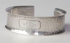 19thC Sterling Napkin Ring Cuff KLD