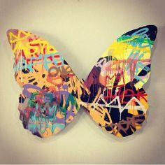 Butterfly Spray on aluminum