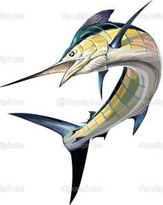 Image detail for -Marlin Sailfish Sportfish.   Vector stock © Sal Sabella #9413554