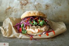 Grilled Asian Pork Burger via @gpellegrini