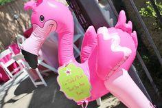 Flamingo First Birthday Party | CatchMyParty.com