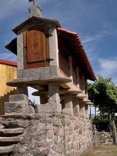 """The """"Espigueiros"""" of Peneda-Geres National Park - the huts are used as storage to protect corn and other grains and crops from vermin - Portugal Portugal Places To Visit, Places To See, Portugal Travel, Spain And Portugal, Portuguese Culture, Medieval Castle, Architecture, Lisbon, The Good Place"""