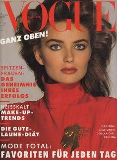 1980s fashion, Eighties mag covers, Vogue Germany September 1988 - Paulina Porizkova