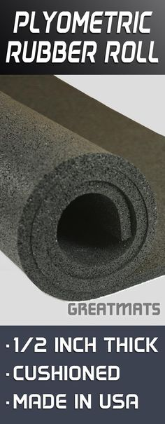 This rolled rubber flooring offers some of the best cushion available among rubber flooring products.