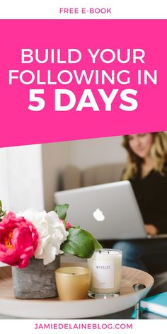 "Free E-Book and Series of Emails: ""5 Days to Build Your Blog Following."" Download now! http://jamiedelaineblog.com/post/25952/build-your-blog-following-in-5-days/"